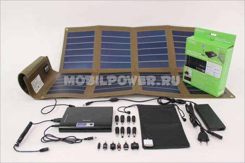 Солнечная панель с аксессуарами