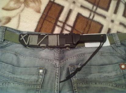 пример ношения ножа под одеждой